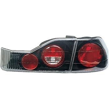 IPCW CWT-734B2 Honda CRX Bermuda Black Tail Lamp with Crystal Eyes