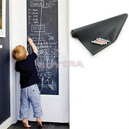 Blackboard Chalk Board Sticker Removable Vinyl Draw Decor Mural Decals Art Chalkboard for Kids with 5 Free Chalks 45x200cm