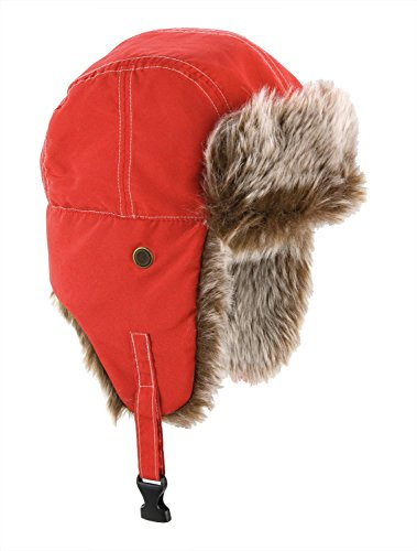Result Unisex Classic Thermal Winter/Ski Sherpa Trapper Hat (M) (Red) by Result Headwear