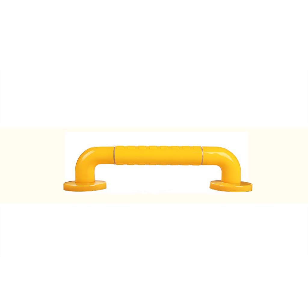 Bathroom Grab Bar, Stainless Steel Handrail, Safety Hand Rail Support, Safety Luminous Circles,Non Skid For Toddlers, Elderly, Seniors, Handicap, Disabled (Color : Yellow, Size : 38cm)