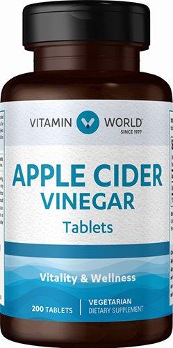 Silica 200 Tabs - Apple Cider Vinegar 200 tablets 480 mg. Gluten-Free. Vegetarian.