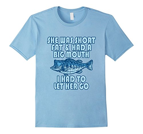 Big Fat Babies - Mens Funny Fisherman Short Fat Big Mouth Fish To Let Go Clothes XL Baby Blue