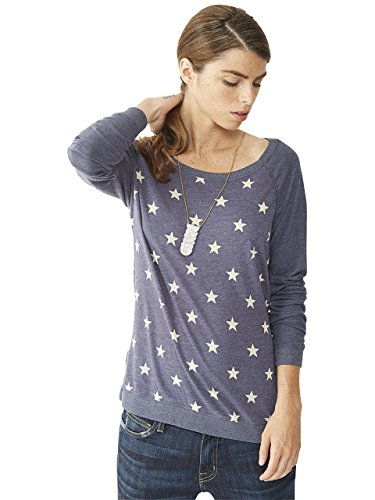 UPC 607048578357, Alternative Womens Locker Room Printed Eco-Jersey Pullover Medium Stars