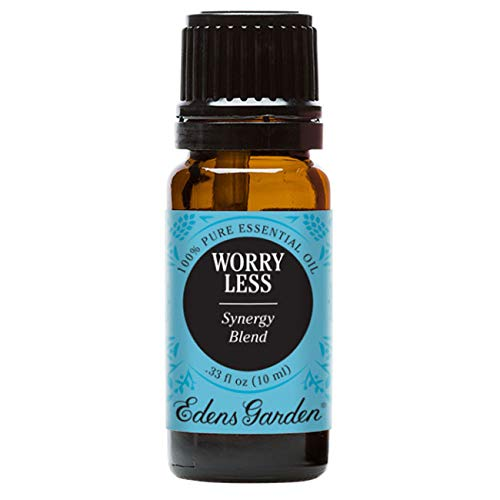 Edens Garden Worry Less 10 ml 100% Pure Therapeutic Grade GC/MS Tested (Vetiver, Lavender, Ylang Ylang, Frankincense, Clary Sage, Sweet Marjoram, Cistus, Spearmint)