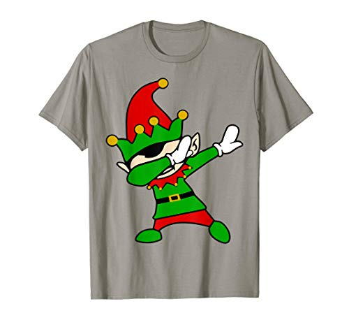 Dabbing Elf T-Shirt Christmas Elves Dab Dance -