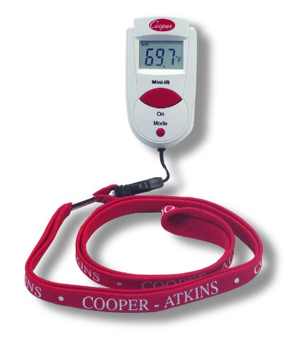 (Cooper-Atkins 470-0-8 Digital Mini Infrared Thermometer with Neck Lanyard, CE, RoHS and WEEE Certified, -27/428°F Temperature Range)