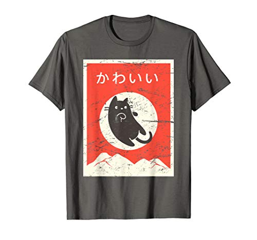 Anime Girl T-shirts - Vintage Japanese Cat