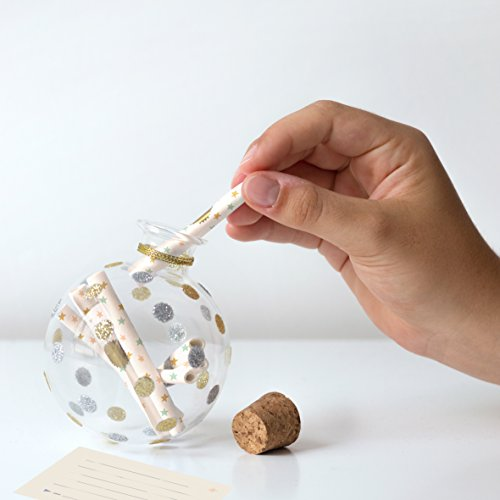 Milestone - Baby's Keepsake Ornament - Glass Christmas Ornament with 12 Notepapers to Write Memories From Each Passing Year