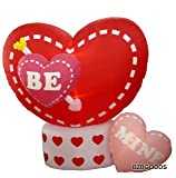 8 Foot Animated Inflatable Valentine's Hearts w/ Rotating Heart - Romantic Valentine Gift for Couple, Cute Anniversary Gift Idea