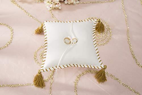 David Tutera CKTB-1803-1/W Sq Pillow Cord Tassel Cream Multicolor