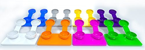 Contact Lens Case Cute Cool Fun Colors – Monthly Replacement Bulk Disposable Contact Lens Case Travel Kit Holder Men Women Teens – 6 Pack Cases Hard Plastic Soft Contact Lenses for $<!--$1.99-->