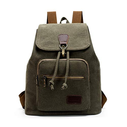 Pengy Men Women Cavans Vintage Casual Shoulder School Travel Laptop Bag Backpacks Vintage Backpack for Adult