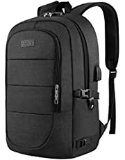 """Travel Laptop Backpack, Anti Theft Business Laptop Backpack with USB Charging Port and Headphone Interface fits Under 17.3"""" Laptop, for College Student Work Men & Women"""