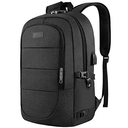 Anti-Theft Laptop Backpack,15.6-17.3 Inch Business Travel Laptop Rucksack Bag with USB Charging Port