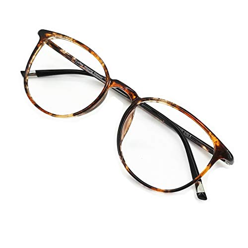 EyeYee Reading Glasses 4.25 Marble Color, Round Glasses, Eyeglasses Frames for Women, Light Weight Glasses
