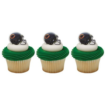 Chicago Bears Cupcake Rings 24