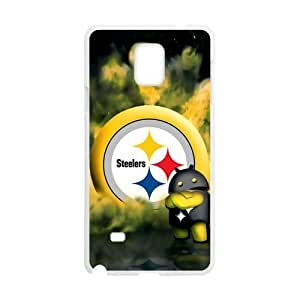 RAROFU Football Sports Pittsburgh Steelers Custom Case for SamSung Galaxy Note4 (Laser Technology)