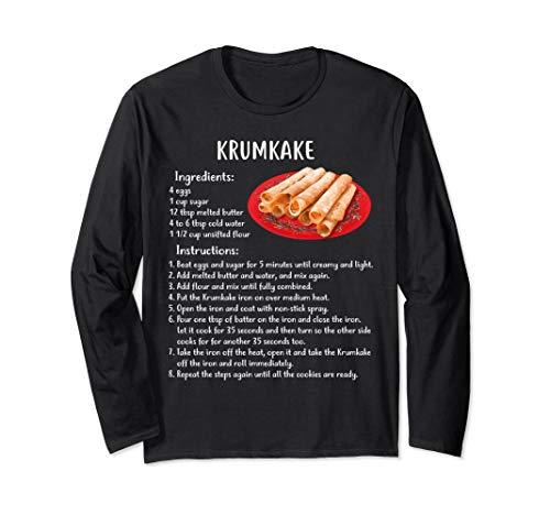 iday Baking Recipe Krumkake T-shirt ()