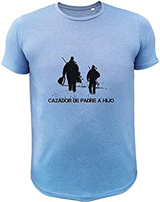 Regalo D/ía del Padre Cazador de Padre a Hijo AtooDog Camiseta de Caza
