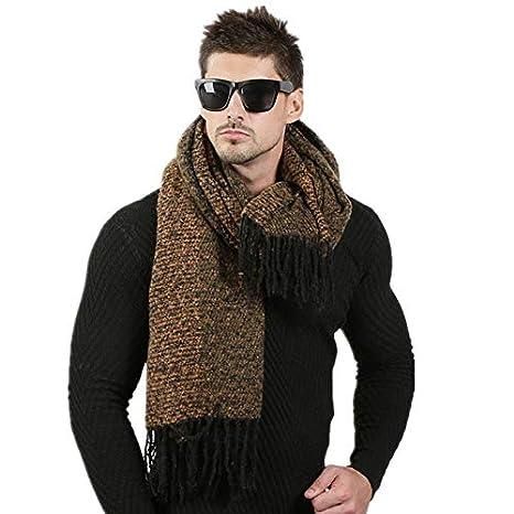 acquisto economico 644df ec847 Yukun scialle 70Cm * 200Cm Sciarpa di Disegno di Moda da Uomo Sciarpa di  Lana Invernale da Uomo in Cashmere Coppia di Alta qualità Spessa Sciarpa ...