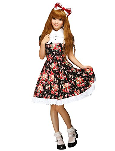 Hugme Cabbage Patch Short Sleeves Cotton Classic Lolita Dress]()