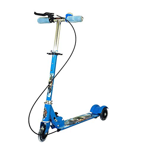 KHUSH® 3 Wheeler Scooters for Kids Kick Foldable Scooter with Brake Bell LED Lights in Wheels and Adjustable Handle Height 2-4 Years [Latest 2020 Edition] (Blue) (Character displayed May Vary) – ₹1,200.00