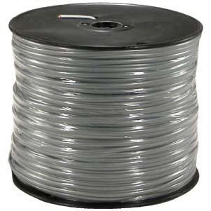 Silver Satin Flat Cable (InstallerParts 1000 Ft 4 Conductor Silver Satin Modular Cable Reel 28AWG)
