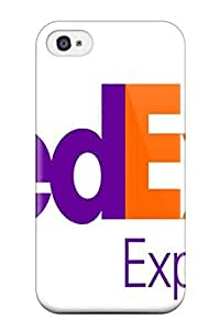 Anti-scratch And Shatterproof Fedex Logo Phone Case For Iphone 4S/ High Quality Tpu Case