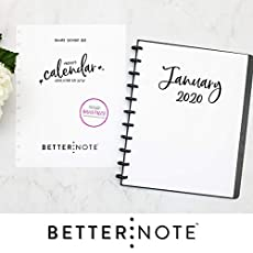 5.8 x 8.3 Classic Kikki K Carpe Diem Planners 6 Ring binder fits Filofax Planner Not Included 2020 Monthly Calendar with Tabbed Dividers for A5 Planners