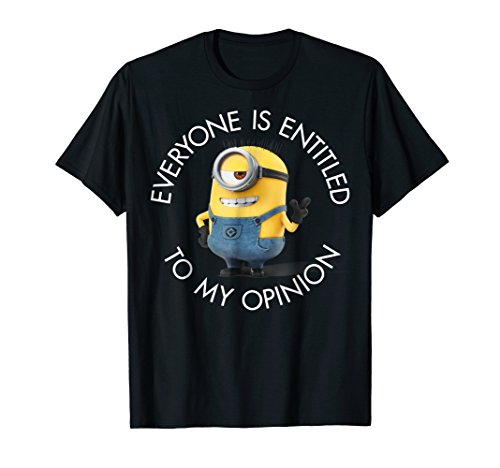 Despicable Me Minions Stuart's Opinion Graphic T-Shirt]()