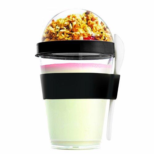 (Asobu (YO2GOS-8948) YO2GO Yogurt Container, Black)