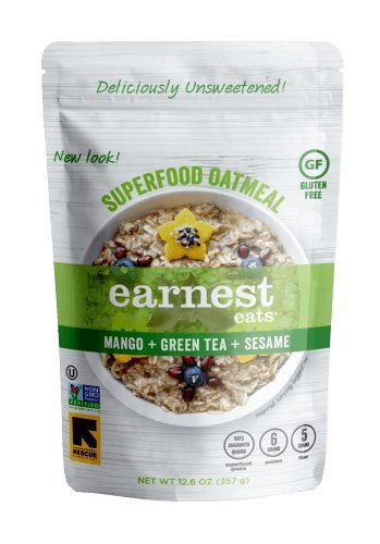 Earnest Eats Gluten Free & Sugar Free Oatmeal with Superfood Grains, Quinoa, Oats and Amaranth - Asia Blend - (6 Count - 12.6 oz)