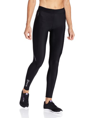 Skins A200 Women's Compression Long Tights, Small, Black/Black