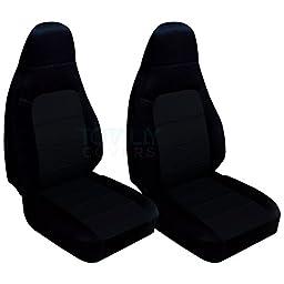 2001-2005 Mazda MX-5 Miata Seat Covers: Black (22 Colors)