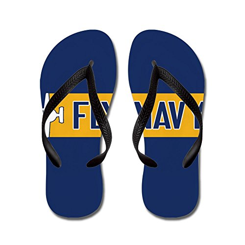 CafePress U.S. Navy: Fly Navy (E-2) - Flip Flops, Funny Thong Sandals, Beach Sandals
