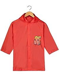 Pixar Cars Little Boys' Lightning McQueen Waterproof Outwear Hooded Rain Slicker - Toddler