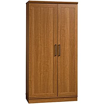 Amazon.com: Sauder HomePlus Basic Storage Cabinet, Sienna Oak ...