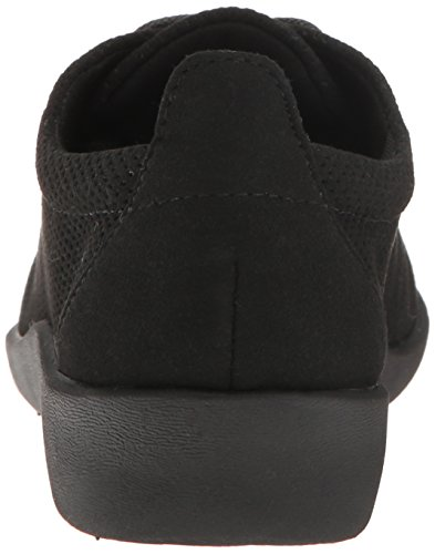Women's Clarks Microfiber Black Perfed Tino CloudStepper Sillian Shoe Casual Fqxw4q