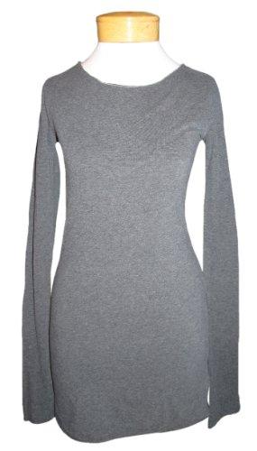 Hard Tail Long Skinny Tee - Dark Charcoal (XS, Dark Charcoal)