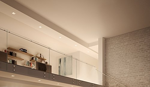 Smartika Edge LED Smart Recessed Light, Ceiling 4'', Square Cover Plate, Works with Alexa by Smartika (Image #1)