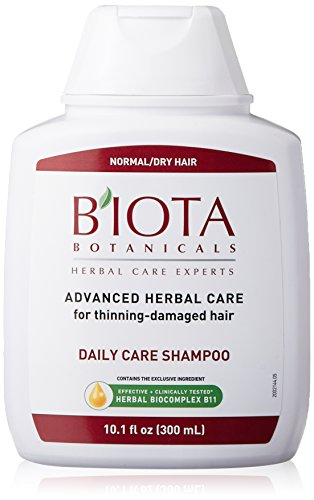 B'IOTA Botanicals Herbal Care Experts Daily Care Shampoo For Normal/Dry Thinning Hair, 10.1 OZ ()