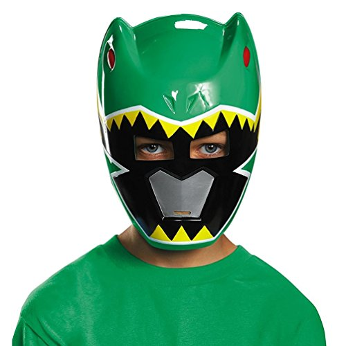 [Disguise Green Ranger Dino Charge Vacuform Mask Costume] (Green Power Ranger Mask)