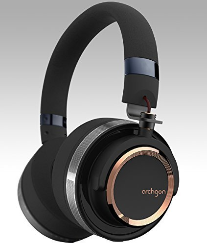 Archgon Delicato Quality Headphones Over Ear High-Resolution Audio Headphones, Gun Metal Gold/Black Wired Professional Headphones with Noise Isolation by Archgon