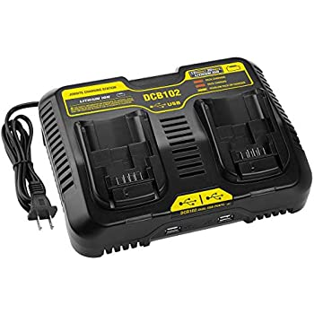 Amazon.com : Elefly DCB102BP 2-Port Replacement Battery ...