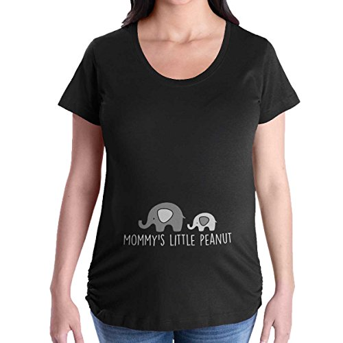 930482697e3a0 Mommy Little Peanut Elephant Funny Maternity Shirt
