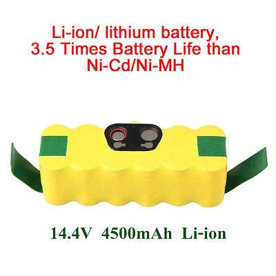 FidgetKute 4500mAh Li-ion Battery For iRobot Roomba 500 510 540 550 560 570 580 600 700 780