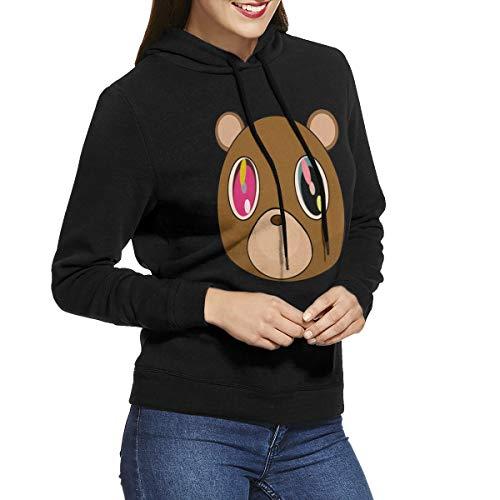 CHUNT Kanye West Bear Women's Hooded Sweatshirt Black -