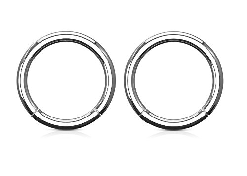 14GA Hinged Segment Rings in 316L Stainless Steel - Sold as a Pair (14mm (9/16