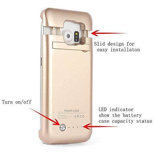 Galaxy S6 Battery condition mega thin mobile or portable Rechargeable External Battery Backup potential Bank Charger condition Cover For Samsung Galaxy S6 together with Kickstand Gold Charger Cases