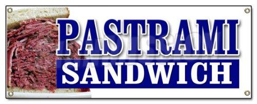 PASTRAMI SANDWICH BANNER SIGN Yiddish food restaurant butcher shop - Pastrami Sandwich